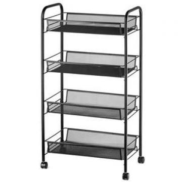 4-Tier Storage Utility Shelf Organizer Industrial Style Wood Bookshelf Designs