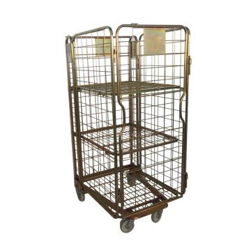 Rolling Adjustable Wire Rack 8 Shelves Bin Storage Black Healthcare Shelving